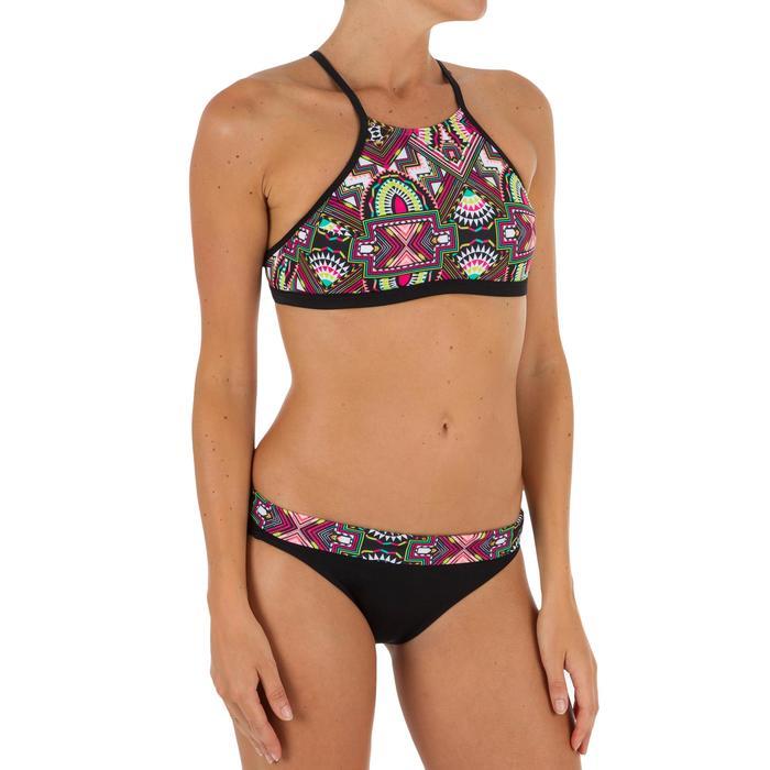 Haut de maillot de bain femme brassière de surf avec coques ANDREA LONGI NOIR