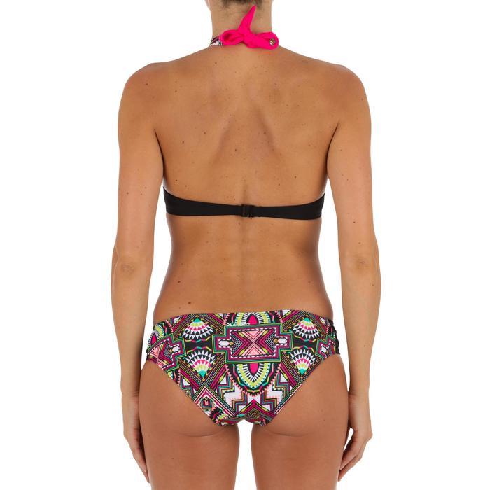 Bas de maillot de bain de surf femme plissée côté NIKI LONGI NOIR