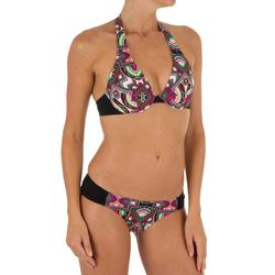 Bikini-Oberteil Neckholder mit Bügel Ella Longi Damen schwarz