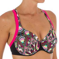 Minimizer bikinitop met beugels Eden Longi zwart