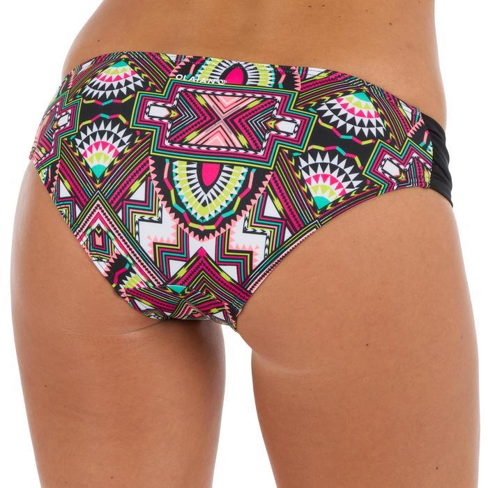 Dames bikinibroekje, gefronst opzij, voor surfen Niki Longi zwart