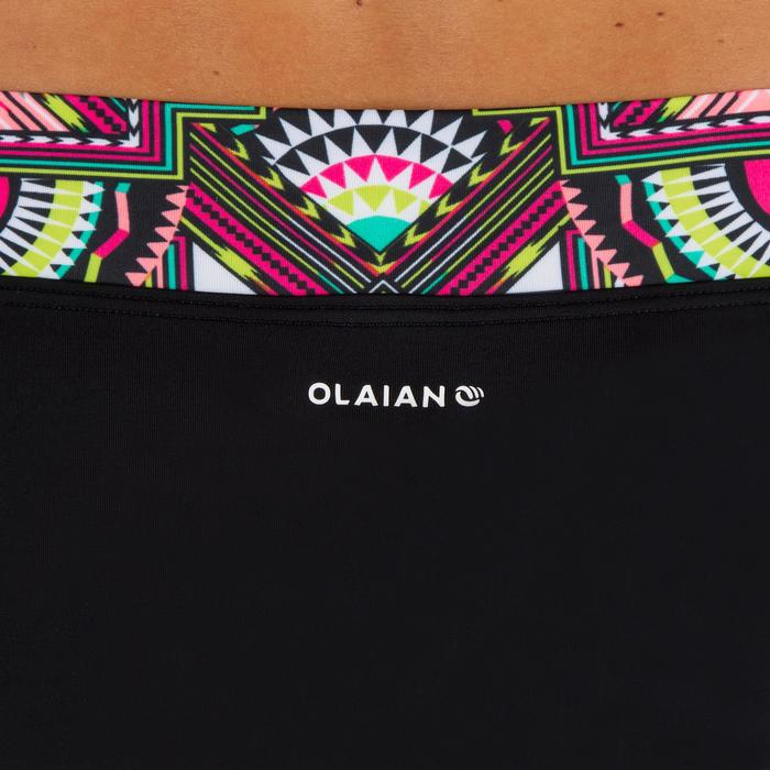 Bikini-Hose Nao Longi hoher Taillenbund mit Revers Damen schwarz