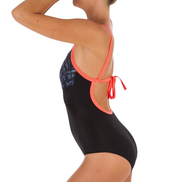 Badeanzug Bustier Cloe Shibo Träger in X-Form Damen schwarz