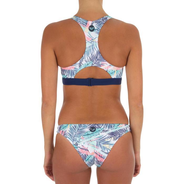 Braga Bikini Surf Corte Alto Roxy Bali Palm Mujer Estampado Flores Azul Rosa