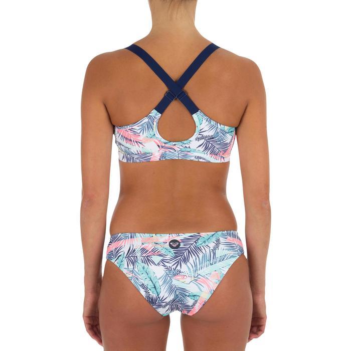 Dames bikinibroekje in shortymodel voor surfen Bali Palm