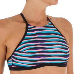 Haut de maillot de bain femme brassière de surf avec coques ANDREA WAVE PINK