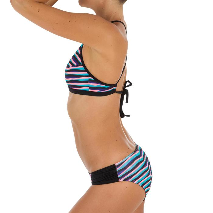 Bikini-Hose klassisch Niki Wave Surfen Damen blau