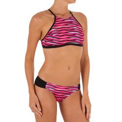 Bikini-Hose klassisch Niki Wave Surfen Damen rosa