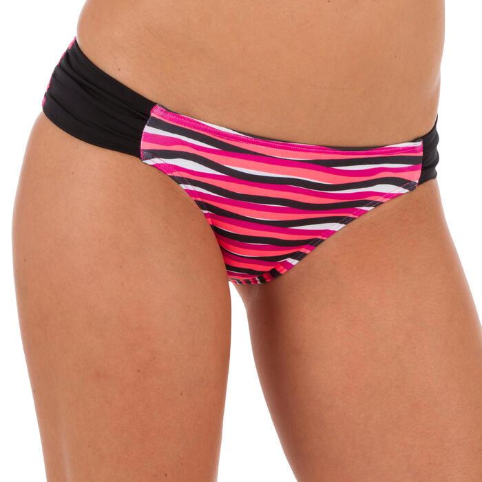 Braga Bikini Surf Brasileña Olaian Niki Wave Mujer Fruncido lateral Rosa Fluor
