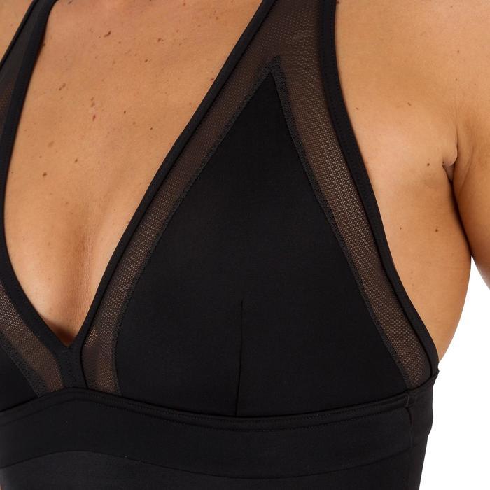 Dames badpak met gekruiste rug Isa zwart