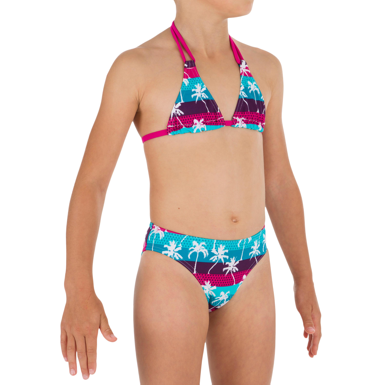 Top de bikini niña TRIÁNGULOS TALOO PALMY Azul