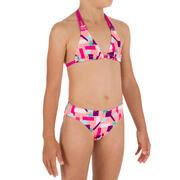 Top de bikini para niña TRIÁNGULOS TALOO LAGOON ROJO CORAL