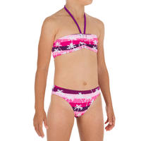 Lali Girls' Two-Piece Bandeau Swimsuit - Palmy Pink