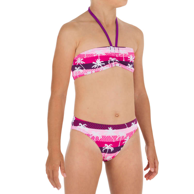 GIRL'S SWIMSUITS Surf - Lali 2P Bandeau - Palmy Pink OLAIAN - Surf Clothing