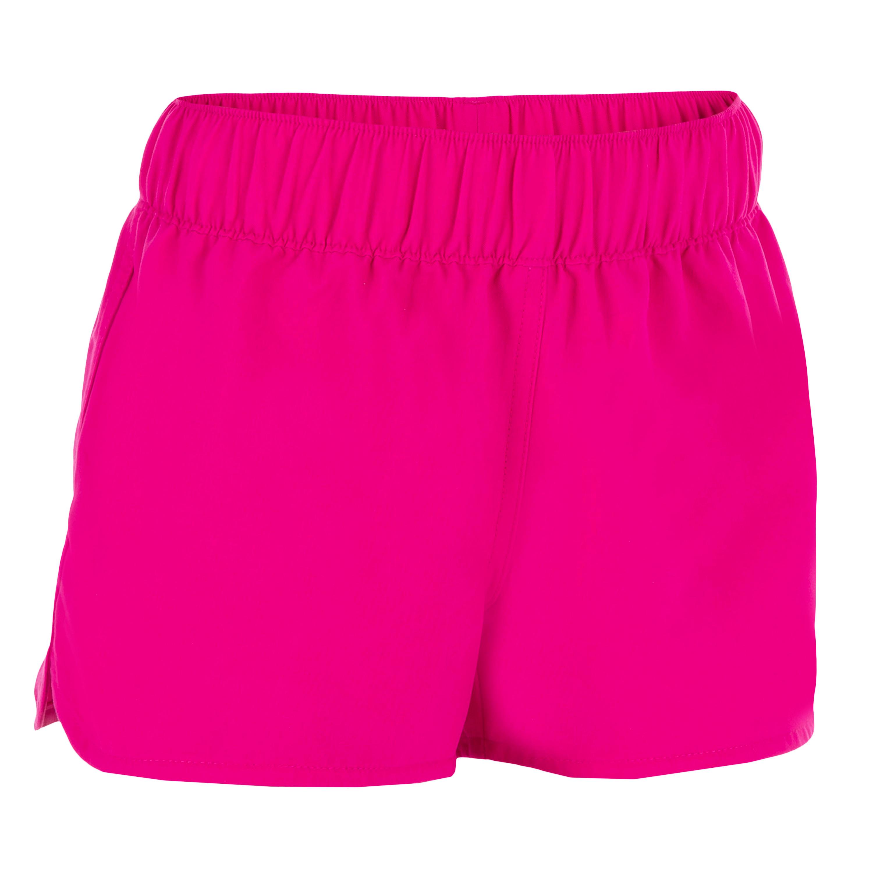 Bermuda corta - Boardshort para niña. Elástico en la cintura KINA ROSA