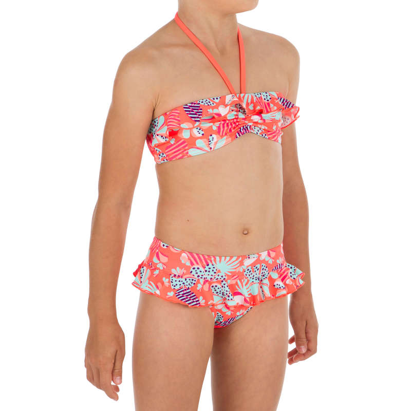 GIRL'S SWIMSUITS Surf - Lila 2P Bandeau - Happy OLAIAN - Surf Clothing