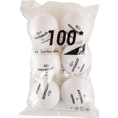 מארז 6 כדורי טניס שולחן דגם TTB 100 - לבן