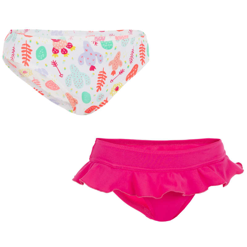 GIRL'S SWIMSUITS Surf - Madi 2 Briefs - Seya Pink OLAIAN - Surf Clothing
