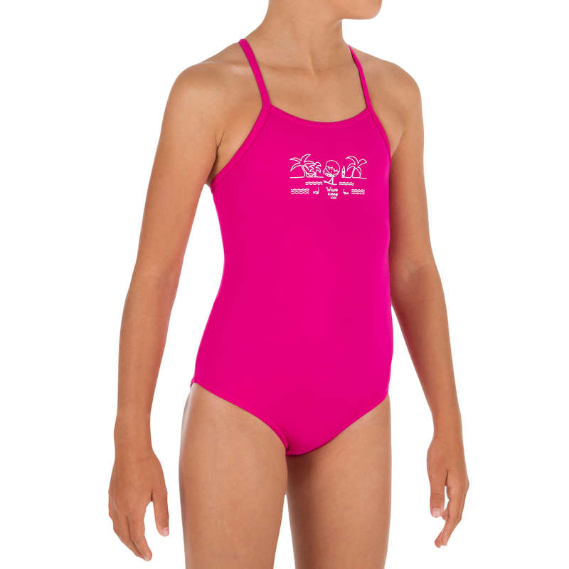 GIRL'S SWIMSUITS Surf - Hanalei 1P Crop Top - Pink OLAIAN - Surf Clothing