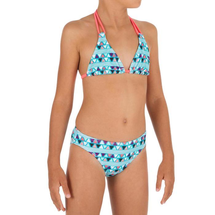 Sujetador de bikini niña TRIÁNGULOS TALOO LIMA Azul