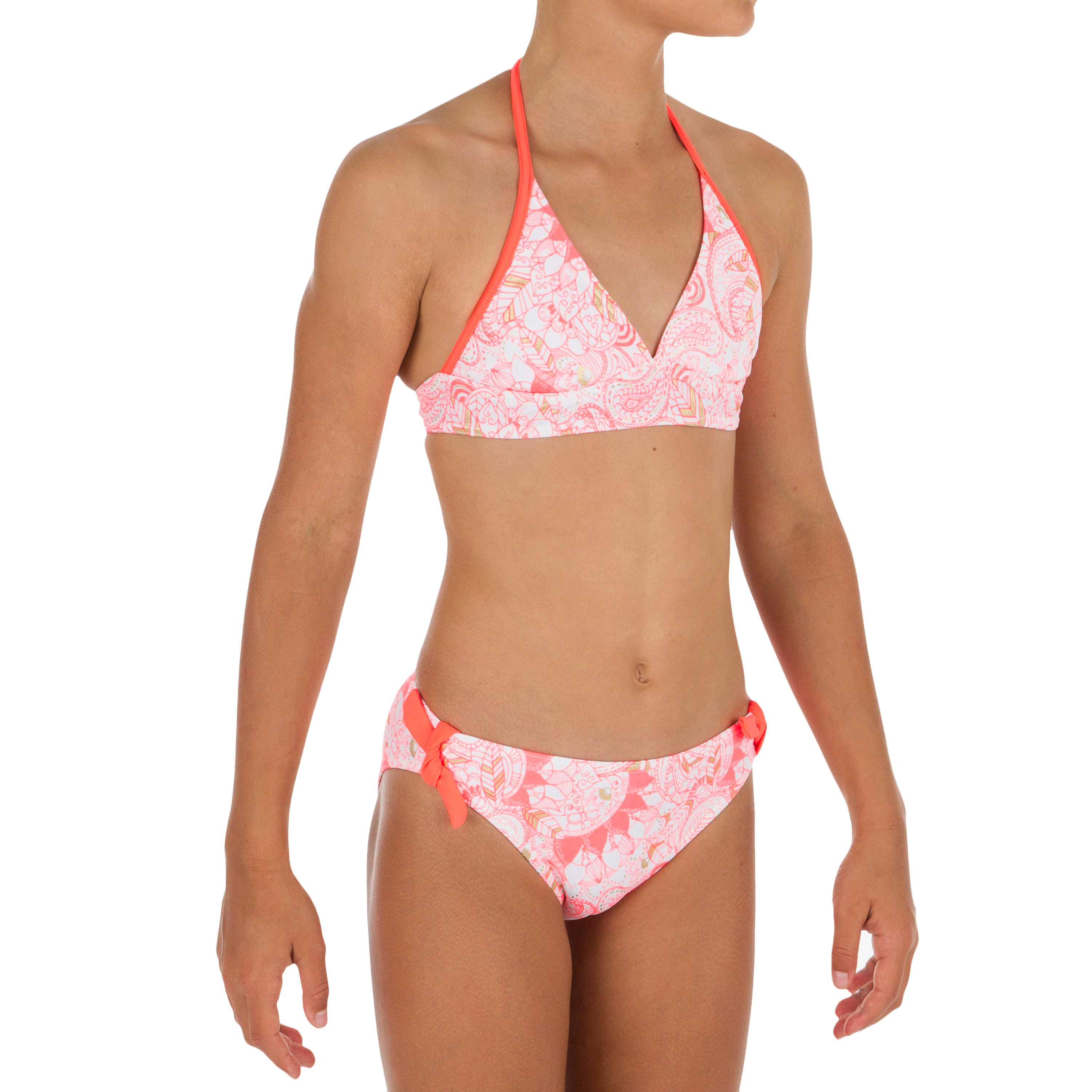 Tami Girls' Two-Piece Halterneck Swimsuit with Padded Cups - Malou