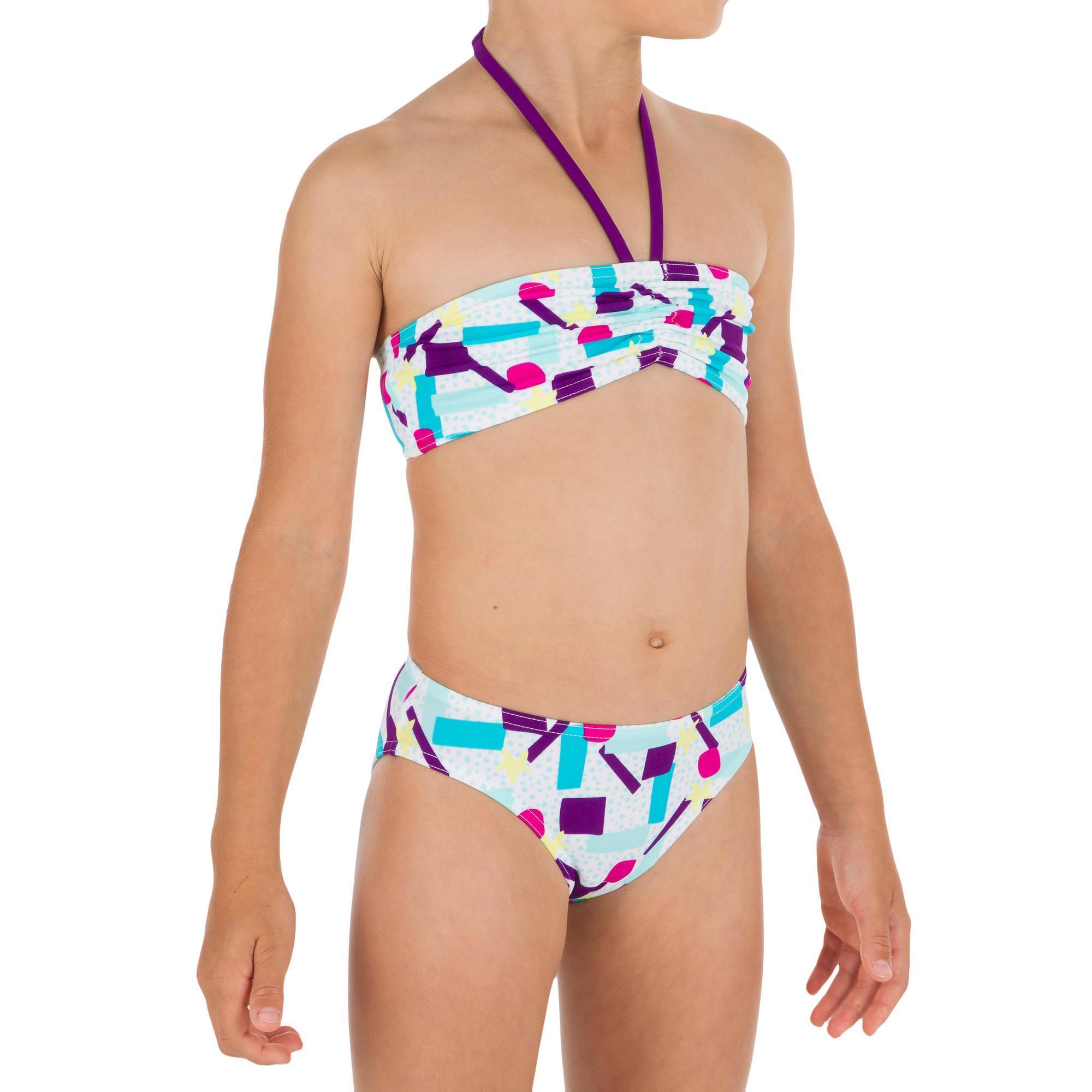 48907e007e Bikini-Set Bandeau Lali Cali Mädchen   Olaian   DECATHLON