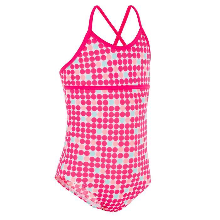 Badeanzug Haloa Doty gekreuzte Rückenträger Mädchen rosa