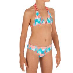 Bikini Completo niña TRIÁNGULOS TALOO CALI AZUL