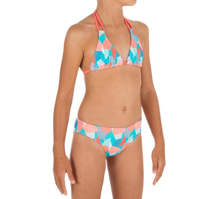 Sujetador de bikini niña TRIÁNGULOS TALOO CALI AZUL