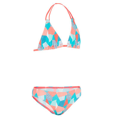 Taloo Girls' Two-Piece Triangle Bikini Swimsuit - Cali Blue
