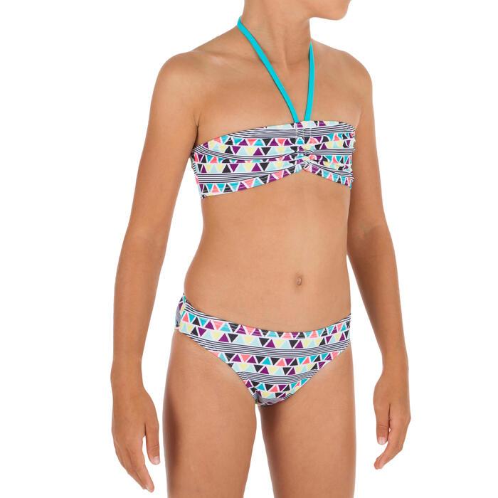 Bikini tipo banda para niña LALI LIMA blanco