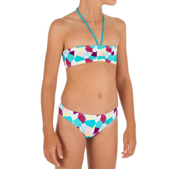 Bikini con sujetador tipo banda para niña LALI CALI blanco