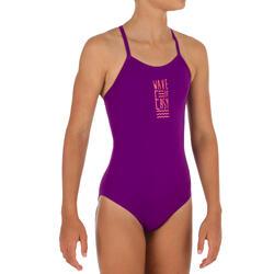 Badeanzug Bustier Hanalei Wave It Easy Mädchen violett