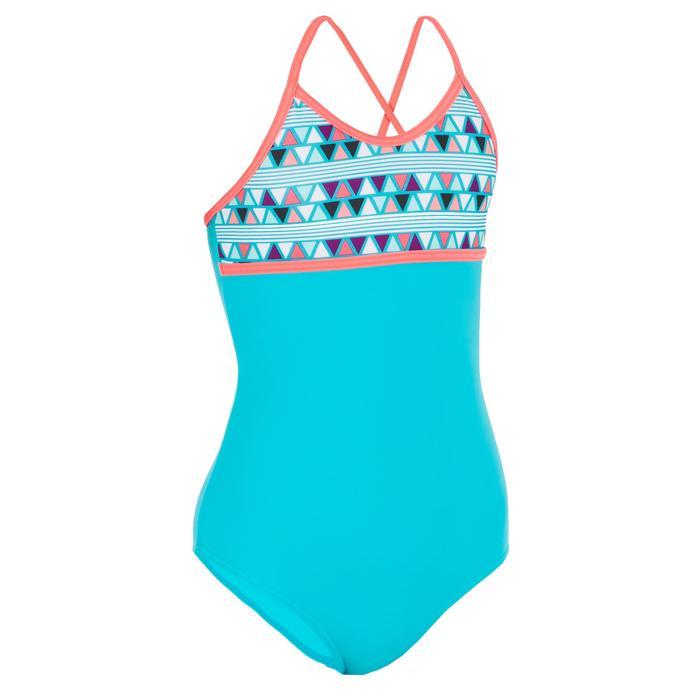 Badeanzug Bustier Haloa Lima gekreuzte Rückenträger Mädchen blau