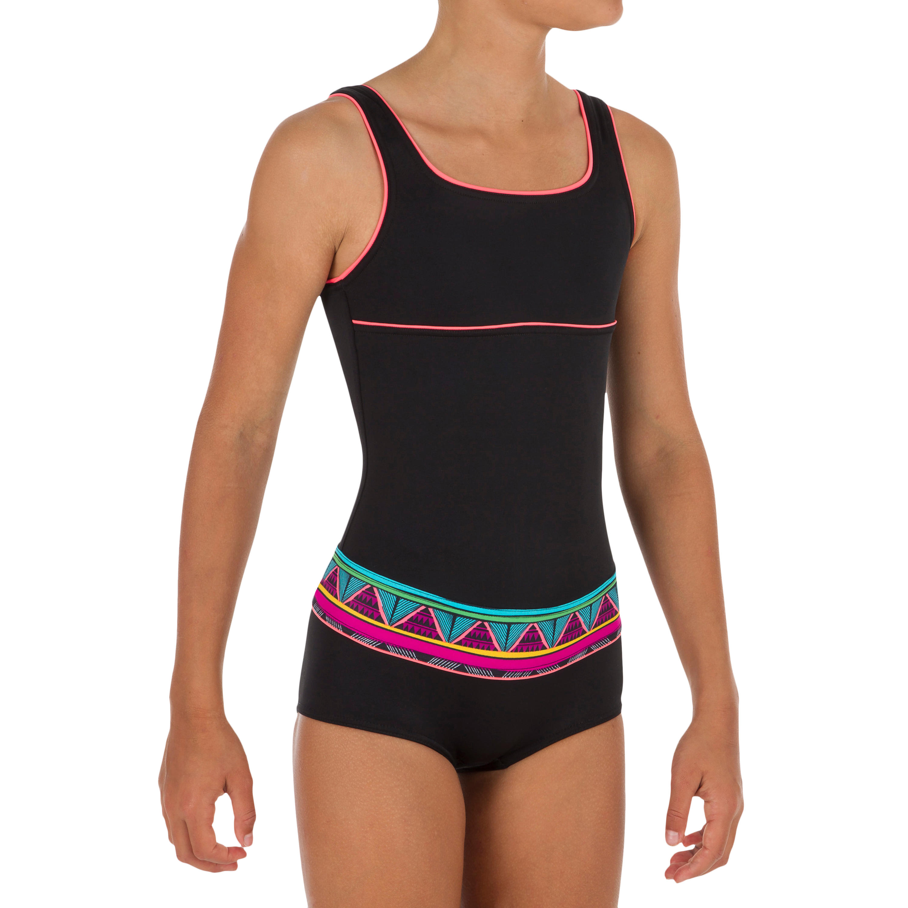 GIRL'S RIO NAIMI ONE-PIECE SHORTY SWIMSUIT WITH OPEN BACK