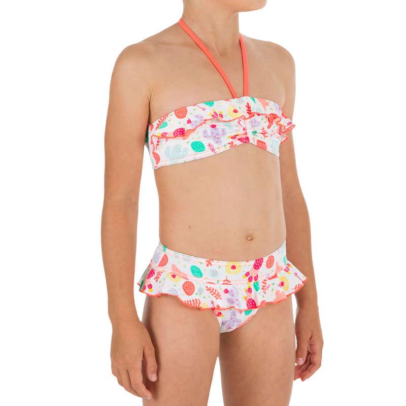 GIRL'S SWIMSUITS Surf - Lila 2P Bandeau - Seya White OLAIAN - Surf Clothing