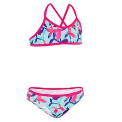 Bikini para niña tipo top de surf BONI ARTREE azul