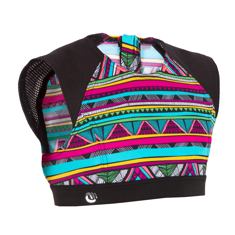 Bella Back Zip Crop Top Surfing Swimsuit - Naimi