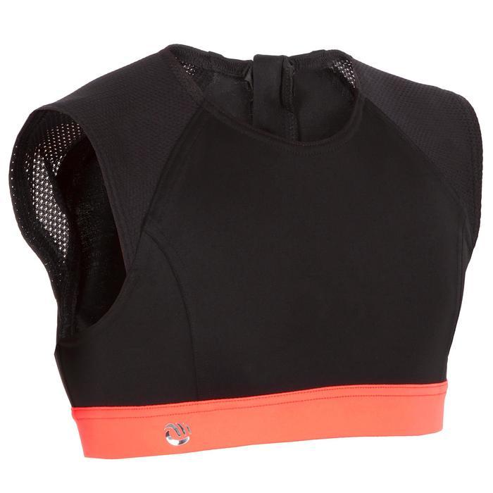 Meisjes surftop met back zip Bella zwart