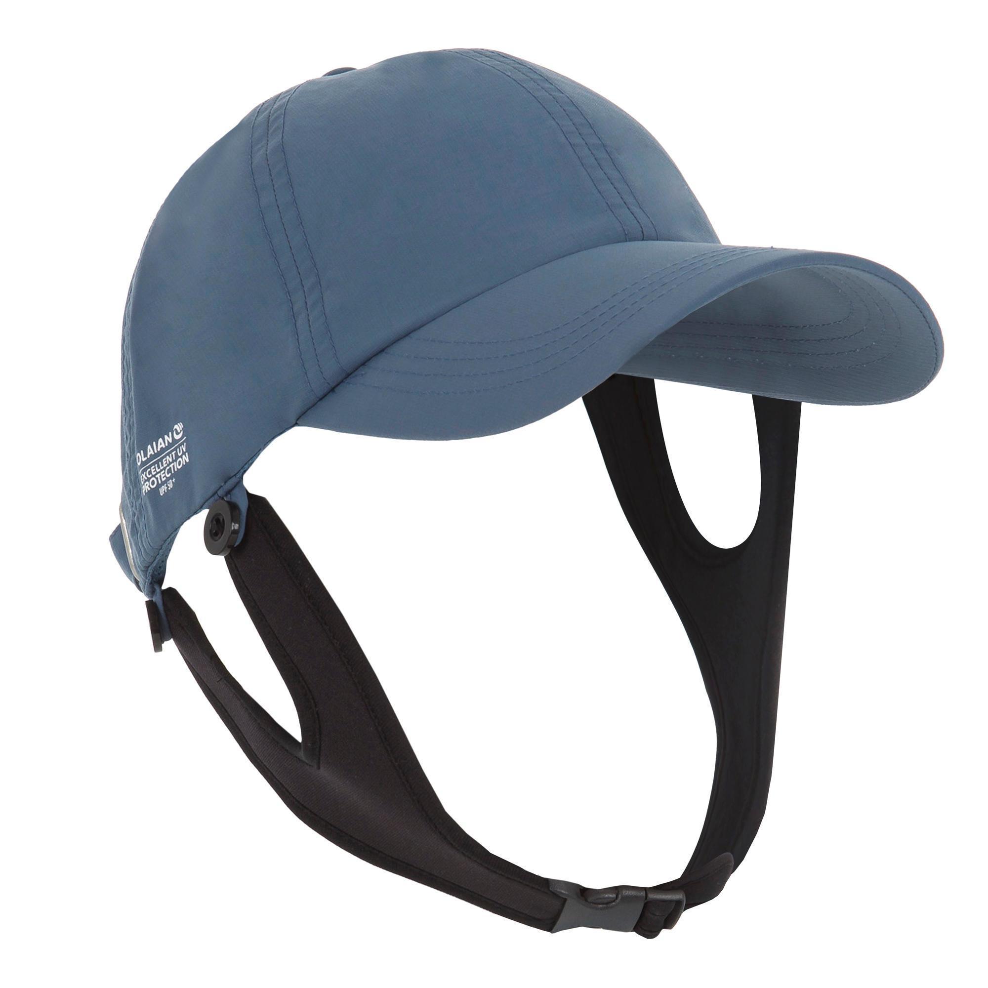 UV-Cap Surfen Erwachsene grau | Accessoires > Caps > Sonstige Caps | Grau - Blau | Olaian