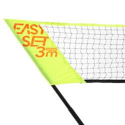 Easy Set 3 m Net and Racket Set - Yellow