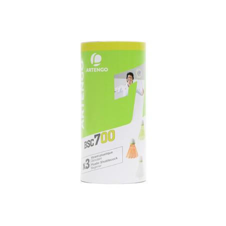 CH PLASTIC SHUTTLECOCK PSC 100  MEDIUM x 3 WH GR OR