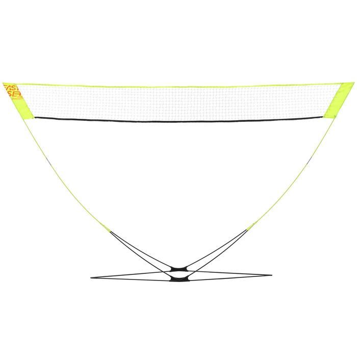 Badminton Easy-Set Discover mit Netz + 2 Schläger + 2 Bälle gelb