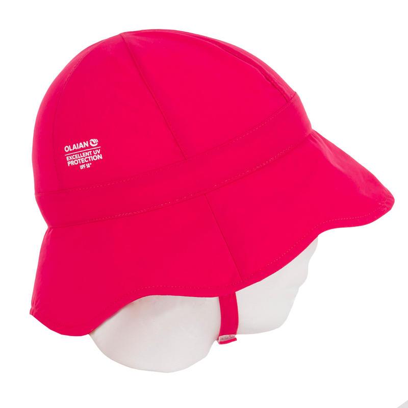 baby uv hat girl pink