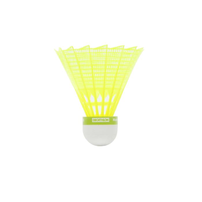 BSC700 Badminton Shuttle Medium 3-Pack - Yellow