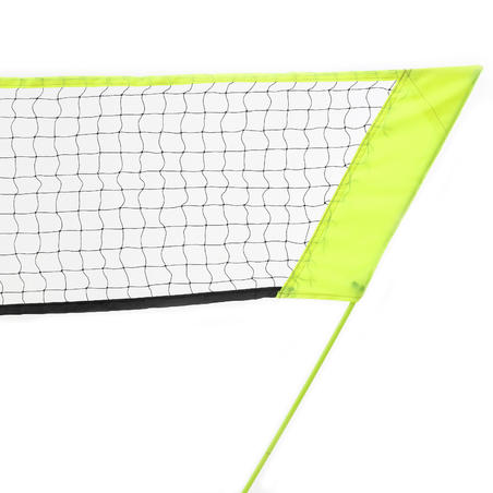 Filet de badminton Filet simple 3 m - jaune