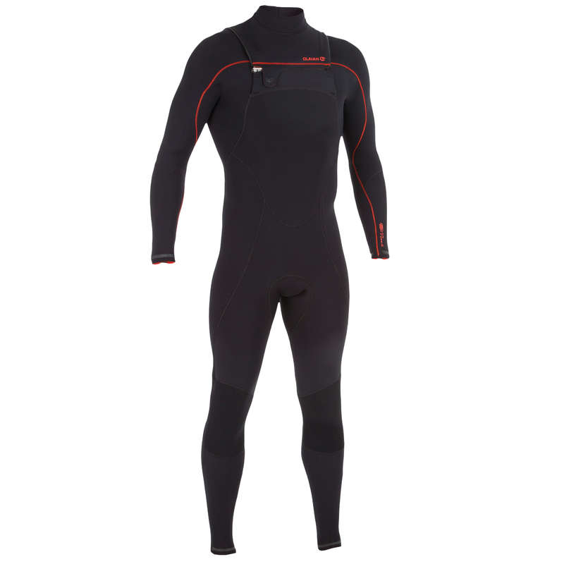 TEMPERED WATER WETSUIT - 900 M 3/2mm FZ Surf Suit Black OLAIAN