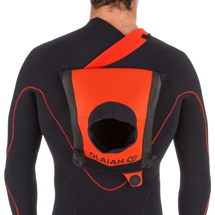 Traje Surf 900 Neopreno 3/2 mm Cremallera superior Hombre Negro