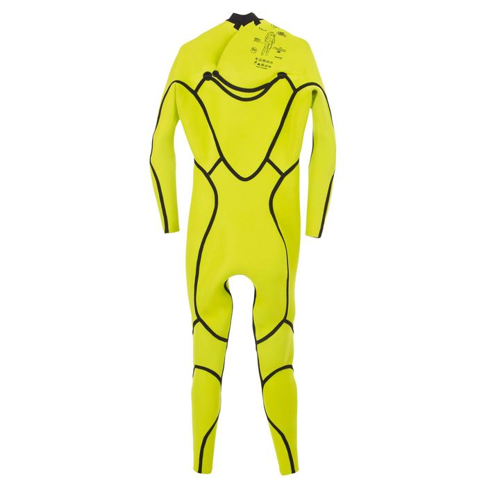 Combinaison Surf 900 Néoprène 4/3 mm Zip Poitrine Homme Noir - 1306510