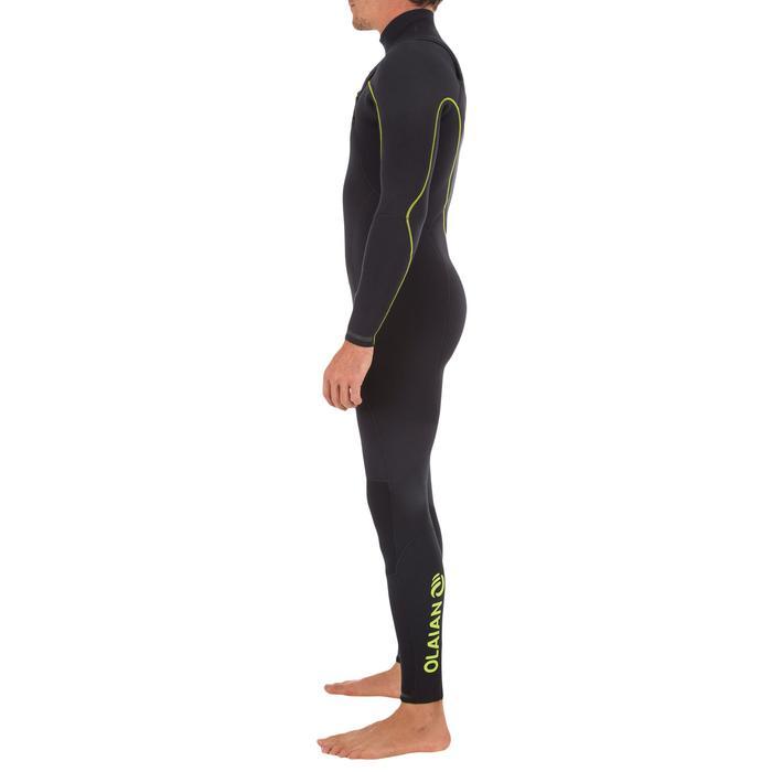 Combinaison Surf 900 Néoprène 4/3 mm Zip Poitrine Homme Noir - 1306511